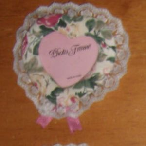 Vintage Cute Pink Floral Heart Picture Photo Frame
